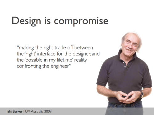 Design is compromise